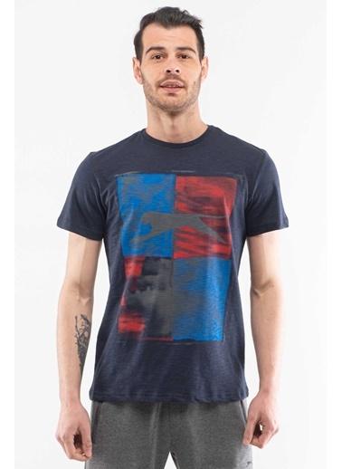 Slazenger Slazenger KEPLER Erkek T-Shirt  Lacivert